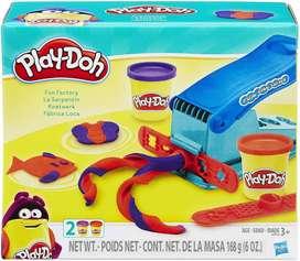Play-doh Basic Fun Factory Forma Que Hace La Máquina Con 2 plastilinas