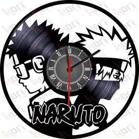 Reloj en vinilo LP/ vinyl clock Naruto anime manga series