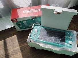 Nintendo switch lite con protector de pantalla