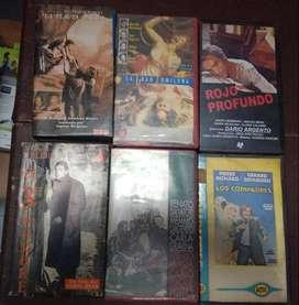 RELIQUIAS DEL CINE DE TODOS LOS TIEMPOS EN VHS: LAS 6: $795._