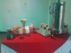 SUMINISTRO DE REFRIGERIOS , ESTACION DE CAFE