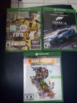 3 juegos de Xbox one
