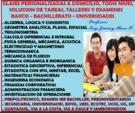 TUTORIAS PARTICULARES, SOLUCION TAREAS, EXAMENESDE INVESTIGACION OPERATIVA Y GESTION  Y ADMINISTRACION DE OPERACIONES,
