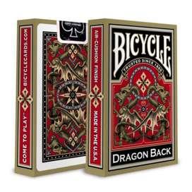 Baraja De Cartas Bicycle Dragon Back Gold. Por Banimported