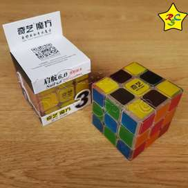 Cubo Rubik Sail Transparente 3x3 Speed Cube 6 Cm Qiyi