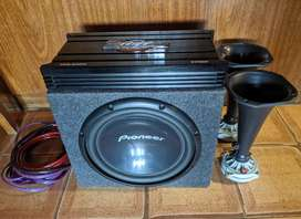 Woofer + potencia + drivers - audiocar