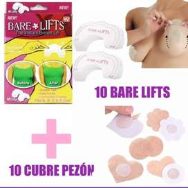Levanta senos + cubre pezones redondos