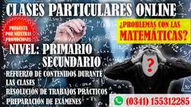 Clases particulares de MATEMÁTICA PROMOCIONES
