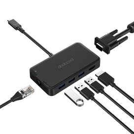 Adapter 7en1 C Hub 4k HDMI VGA RJ45 Mac pro Air 2019 iPad Pro 11 12.9
