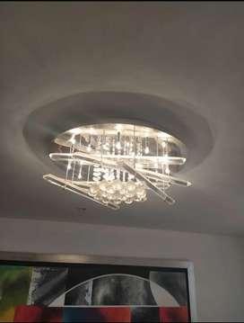 Lámpara de cristales x 60 cm