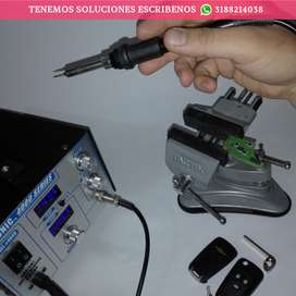 Reparación de Control Alarma para carro, cambio de batería e instalación