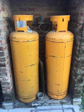 2 Garrafas de gas de 45 kg