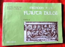 INICIACIÓN A LA FLAUTA DULCE  VOLUMEN II  AKOSCHKY VIDELA