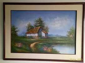 Vendo Cuadro paisaje pintado al óleo sobre lienzo. Original.