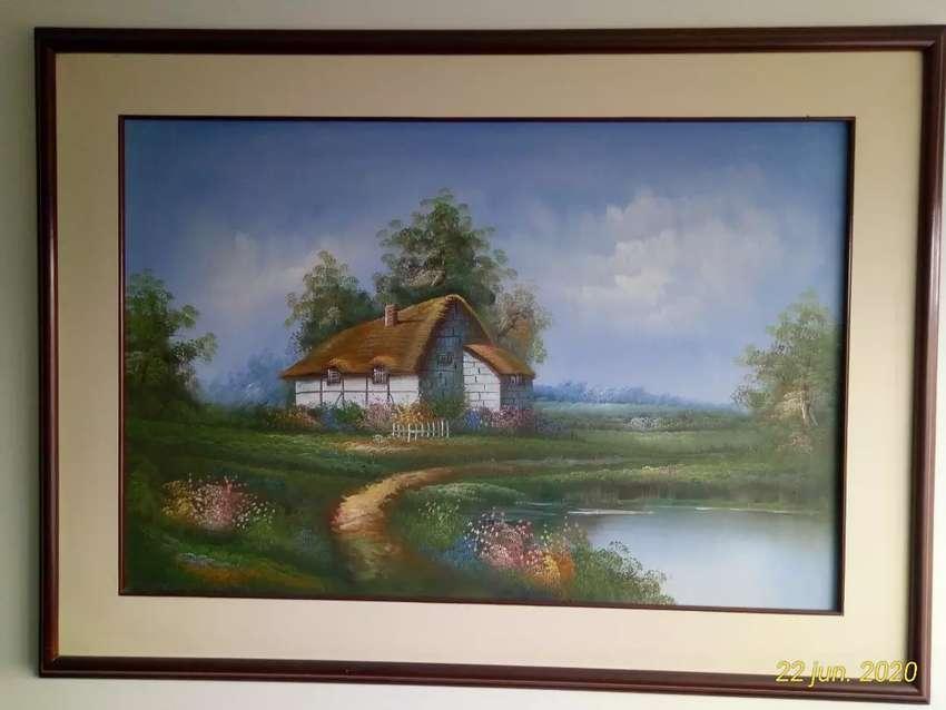 Vendo Cuadro paisaje pintado al óleo sobre lienzo. Original. 0
