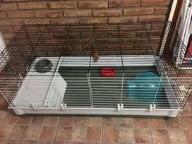Jaula Italiana Cobayera Cobayos Conejos Xl 120cm
