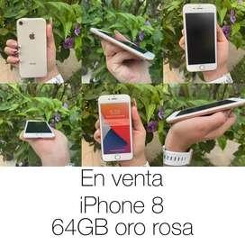 Iphone 8 64gb color oro rosa
