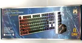 Combo de Mouse gamer y teclado tipo mecanico Gamer