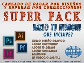 Súper pack diseño, branding y negocios digitales