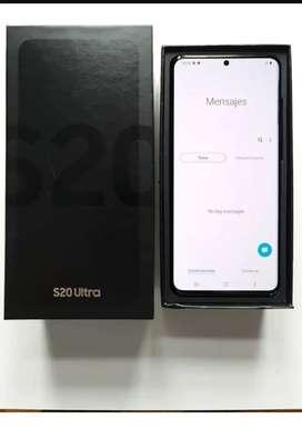 Vendo s20 ultra negro en caja completo.  Poco uso