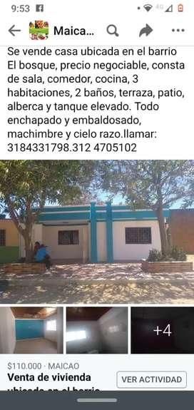 Se vende casa en maicao la guajira precio negociable