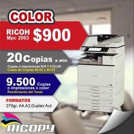 Copiadora Impresora Ricoh Mpc 2003 Full Color