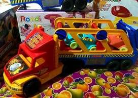 Camion con dos autos