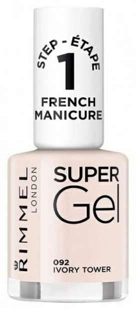 ESMALTE RIMMEL SUPER GEL 092 IVORY TOWER RECOLETA
