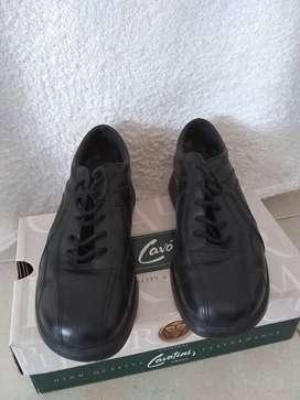Zapato Acordonado Cavatini Art.3973 Hombre Cuero Punta Redonda