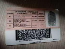 conductor  licencia C2 Al día y sin multas