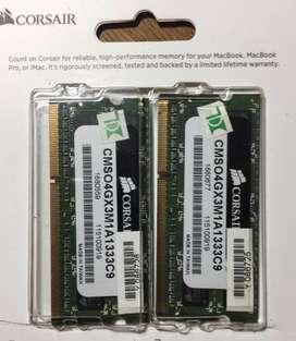8GB 2 X4GB CORSAIR Memory CMSO4GX3M1A1333C9