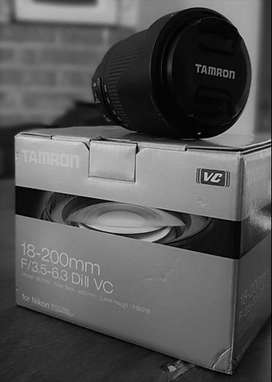 Lente todo terreno Tamrom 18-200mm para Nikon