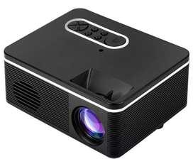 MINI PROYECTOR HD VIDEO BEAM HDMI + SD + CONTROL NEGRO