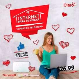 Tv y internet claro para tu hogar