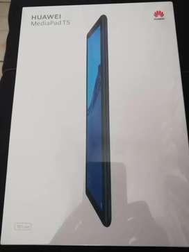 Vendo Tablet Huawei T5 10.1 pulgadas de 3gb.de ran y 32 gb de memoria ampliada a 128gb. No usa chip en caja sellada