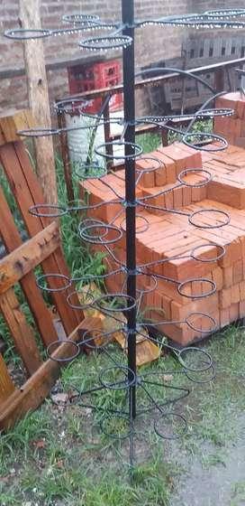 Estructura de hierro para plantines