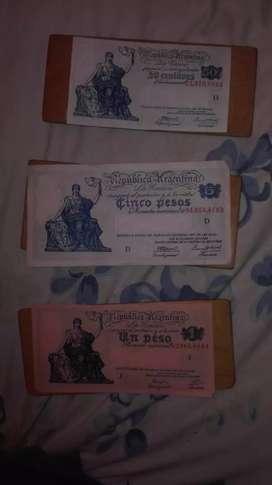 Billetes antiguos argentinos australes etc