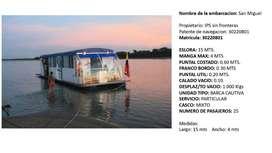 Vendo barco con capacidad para 25 personas