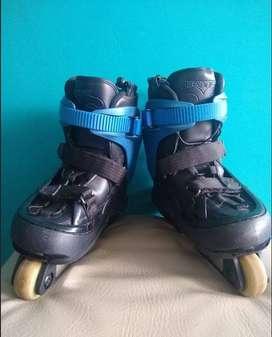 Patines Remz Os. 4 Blue Agresivo Skate. En Línea - Freestyle