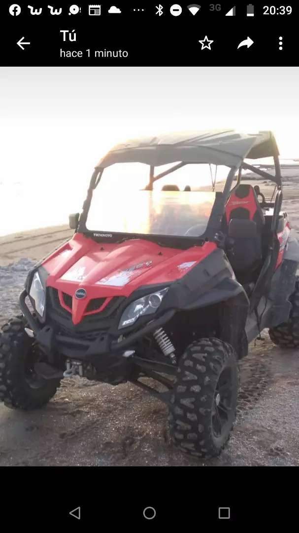 UTV Gamma zforce 550 casi nuevo , patentado 0