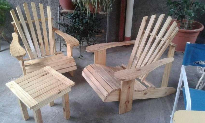 juego de jardin de madera completo 0