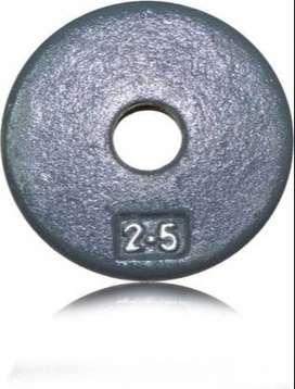 Discos de pesas de 2.5 libras x 4 unidades