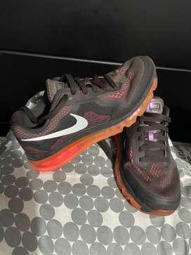 Zapatillas Nike marrones air max talla 38 unico par