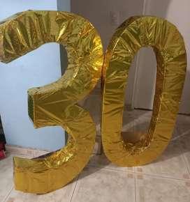 30 gigante dorado + 30 blanco luces