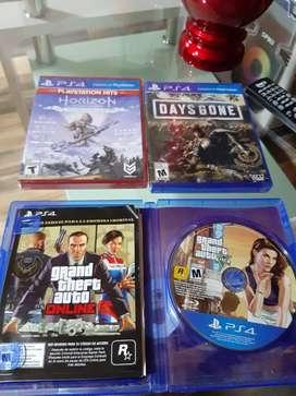 Vendo 3 juegos play 4