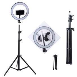 Aro De Luz Led 33cm+ Trípode 2mt + Soporte para celular disponible para entrega inmediata