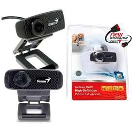 Cámara Web Genius Facecam 1000x Webcam Hd 720p Chat / Meet / Microfono Incorporado
