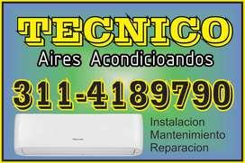 SERVICIO TÉCNICO DE INSTALACIÓN Y MANTENIMIENTO DE AIRES ACONDICIONADOS Cel: 3114189790
