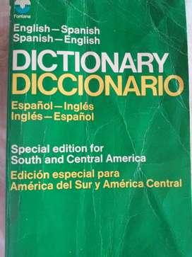DICTIONARY   DICCIONARIO  INGLÉS ESPAÑOL  COLLINS FONTANA