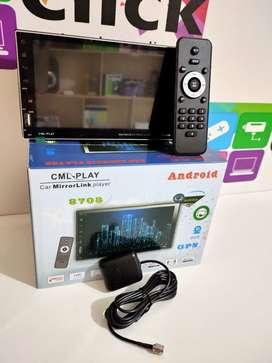 Radio Pantalla Android 7 pulgadas  Táctil 2 USB control WiFi GPS YouTube App Gratis Instalación y cámara de retro